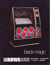ROWE AMI BLACK MAGIC R-82  ORIGINAL JUKEBOX FLYER ADVERTISING BROCHURE 1978