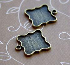Antique bronze Cabochon Resin base setting pendant blanks - 10 pcs
