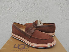 UGG WHITFIELD CHESTNUT LEATHER PENNY LOAFERS/ SHOES, MENS US 9/ EUR 42 ~ NEW