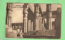 EGYPT  MILITARY POSTCARD -  1918, ON ACTIVE SERVICE, TEMPLE OF  LOUKSOR (LUXOR)