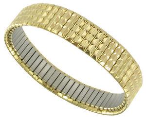 Speidel Stretchy Link Design Gold Tone Bracelet