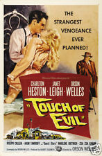 Touch of evil Charlton Heston cult movie poster print