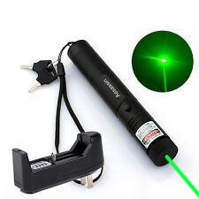 10Miles Powerful 5mw 532nm Green Laser Pen Pointer Cat Toy Laser+Battery+Charger