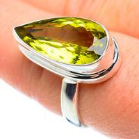 Lemon Quartz 925 Sterling Silver Ring Size 9 Ana Co Jewelry R52411F