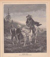 Prigionieri spie cavaliere su cavallo con Degen chiave in legno di 1881 generi immagine