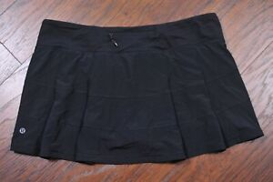 Lululemon Pace Rival Skirt Black Women's 12