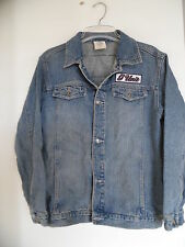 Blue Jacket Denim  Cotton Women  Sz Medium Fifty Cent  G-UNIT Buttons Logo