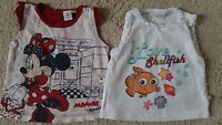 LOT DE 2 T.SHIRT BEBE FILLE DISNEY MINNIE, NEMO  18 MOIS  IDEE CADEAU