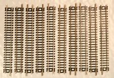 """Lot of 10 Atlas N Scale Nickel Silver Conventional 5"""" Straight Tracks - 2501"""