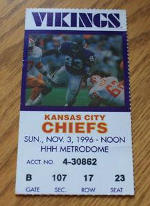 Minnesota Vikings Ticket Stub - November 3 1996 - Cris Carter 71st Career TD