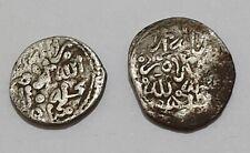 FEZ & MEKNES Mint Saadier Saadiens 2 Silver Coin LOT Dirhams Al Ghalib RARE SET