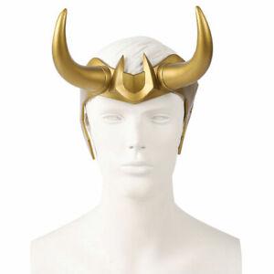 Loki Crown Horns Helmet Mask Headwear Headband Halloween Party Cosplay Prop US