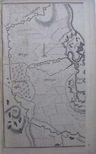 1758 DEFENCE PLAN OF STRALSUND GERMANY UNDER SIEGE BY DANES & PRUSSIANS IN 1715