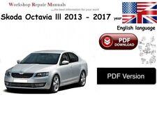 Skoda Octavia lll   WORKSHOP SERVICE MANUAL  2013 -2017 year