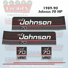 1989-90 Johnson 70 HP Sea-Horse Outboard Reproduction 6 Pc Marine Vinyl Decals