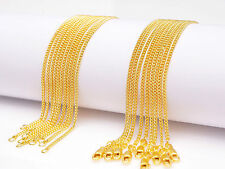 Chain Flat Curb Necklaces For Pendant 5Pcs 28inch Jewelry 18K Yellow Gold Filled