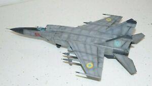 MiG-25 PD,ICM 72177  1:72, built to a good standard, ukraine airforce