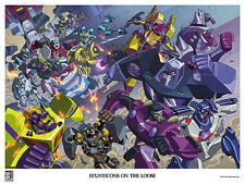 TRANSFORMERS ANIMATED LITHOGRAPH; Botcon 2016 Stunticons on the Loose poster
