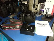 Canon EOS 70D 20.2MP Digital SLR Camera - Black (Body Only) - Factory refurbish!