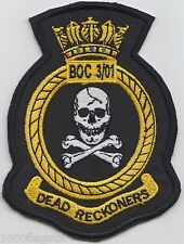RAF Course BOC 3/01 Embroidered Crest Badge Patch MOD Approved