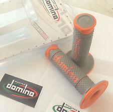 Manopole Domino Off-road Racing Arancio/grigio Cross Motard Enduro Grips