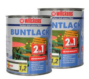 Metall + Holz Buntlack 2in1 Grundierung+Lack Schutzlack Acryl 750ml (9,68€/1l)