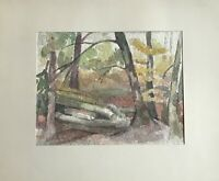 Edith Reichert-Heidenreich 1924-2013 Aquarell Im Wald Natur Laubbäume