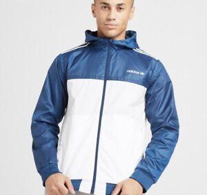 Adidas Originals Reversible Windbreaker Hoodie Jacket Full Zip Large Casual New