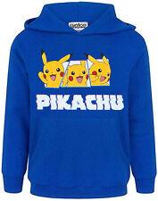 Pokemon Hoodie Pikachu Charakter Jungen Kinder Kinder Blue Hooded Jumper