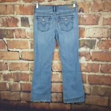 Levi's 545 Low Boot Cut Jeans Womens Size 8 Distressed 31 Inseam Flap Pockets