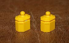 Playmobil époque victorienne lot de 2 pots à épices jaunes nostalgie 5313 3848