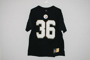Majestic NFL Pittsburgh Steelers #36 Jerome Bettis Hall of Fame Mens Tee XL EUC