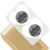 2 x Heart Stickers 7.5 cm - BW - Madrid Spain Espana Travel Stamp  #40374