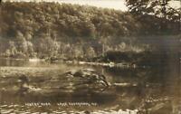Lake Cossayuna NY Lovers' Rock c1910 Real Photo Postcard