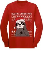 Cute Slothy Christmas Ugly Christmas Sweater Toddler/Kids Long sleeve T-Shirt