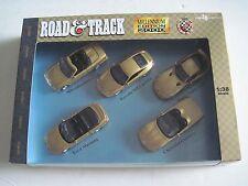 Road And Track Millennium Edition 2000 1:38 Pullback 5 Car Set Corvette Viper