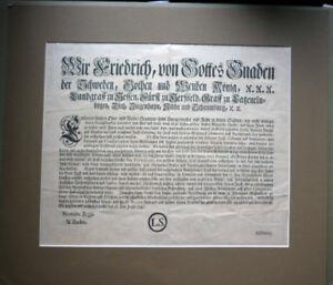 Einblattdruck von 1740                                                (Art.4124)