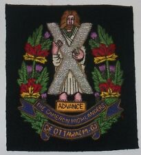 The Cameron Highlanders of Ottawa (M.G.) blazer badge