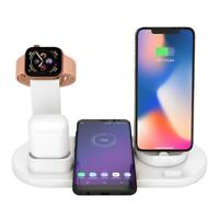 3in1 Wireless Quick Charging Dock Holder Station for iPhone Airpods Apple Watch