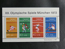 TIMBRES JEUX OLYMPIQUES : ALLEMAGNE FEDERALE BLOC N° 7** ( N° 586 à 589 ) 1972