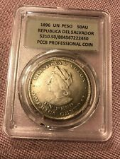 Coin un peso1896 year Republica del Salvador