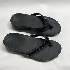 Vionic Women's 380 High Tide Platform Flip Flop Sandals Black Size 9 Wide EU 41