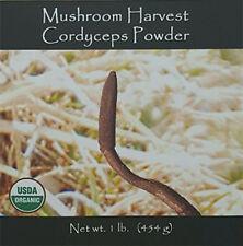 Cordyceps Mushroom USA  Grown Organic Full Spectrum Powder Activated 1 pound