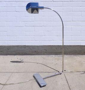 CEDRIC HARTMAN chrome FLOOR LAMP adjustable MODERNIST minimalist XLNT no reserve