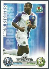 TOPPS MATCH ATTAX 2007-08 TRADING CARD-BLACKBURN ROVERS-MACEO RIGTERS