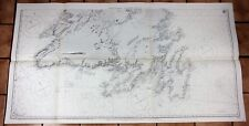 Very Large Newfoundland Marine Chart - NEWFOUNDLAND - SOUTHERN PORTION  - 1955
