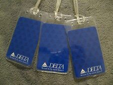 Delta Airlines We Love To Fly DAL Vintage Playing Card Luggage Name Tag Tags 3