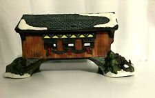 """Limited Edition O'Well Holiday Village Christmas Covered Bridge Ceramic 10""""x 5"""""""
