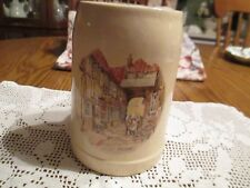 Heavy Pottery Beer Stein/Mug with Scene - Made in West Germany - number & mark