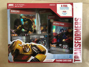 Transformers Trading Card Game 2 Player Starter Set Hasbro 4 Foils + 40 Cards